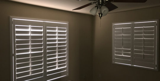White Window Shutters in Lake Havasu City