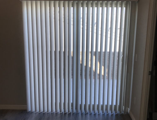 White Vertical Slider Door Blinds