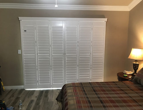White Slider Door Shutters